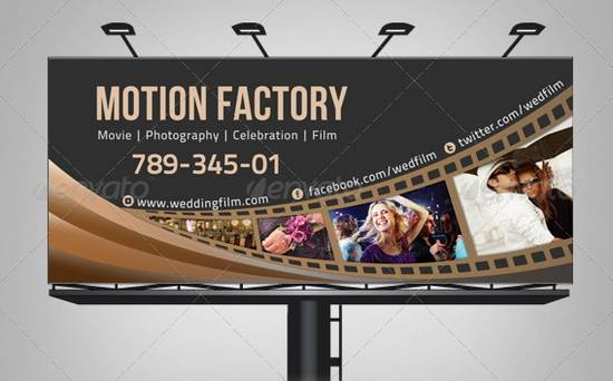 Motion Factory & Wedding Film Billboard