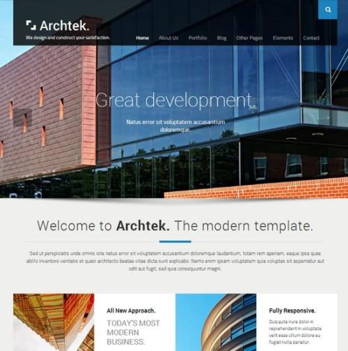 Archtek Responsive Modern HTML Template