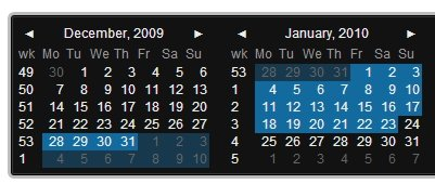 Date Picker component web application