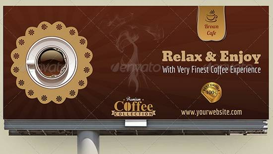 Cafe Billboard Template