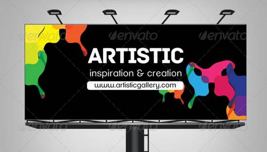 Multipurpose Corporate Billboard - Artistic