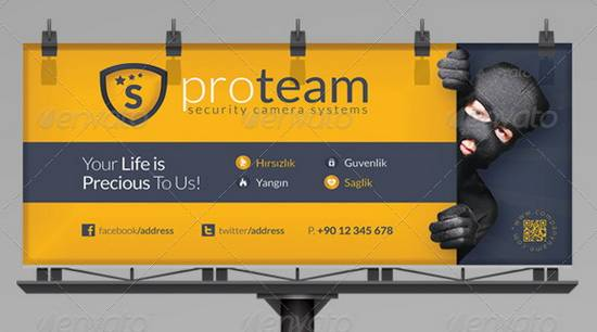 Security Systems Billboard Template