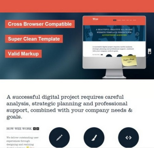 Free Wee HTML/CSS Business Templates
