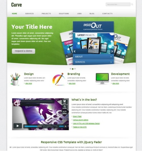Free Curvee Corporate Template