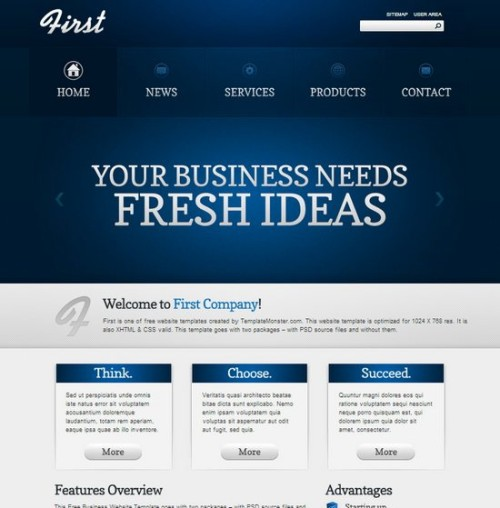 Free first Business Corporate Template