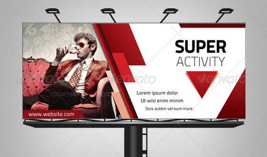 Power Triangle Billboard Template Designs