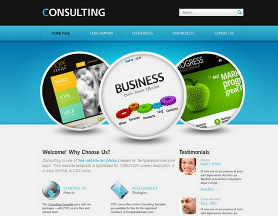 Free Consulting web Template