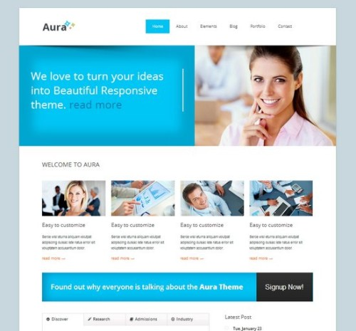 Aura responsive corporate template