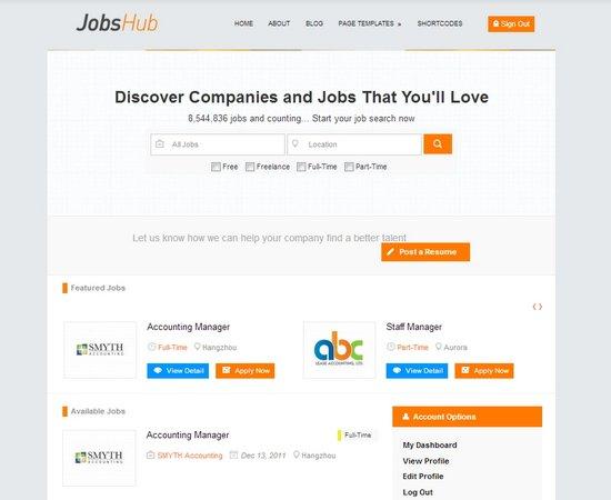 JobsHub Professional Job Theme