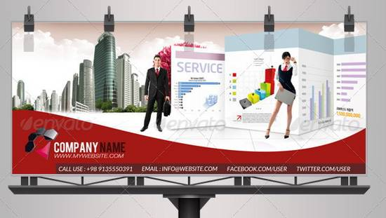 Business Information Billboard Template