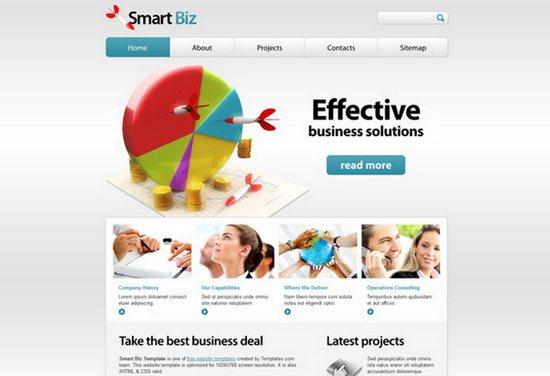 Free SmartBiz web Template