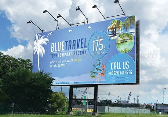 Travel Company Billboard & Rollup Template