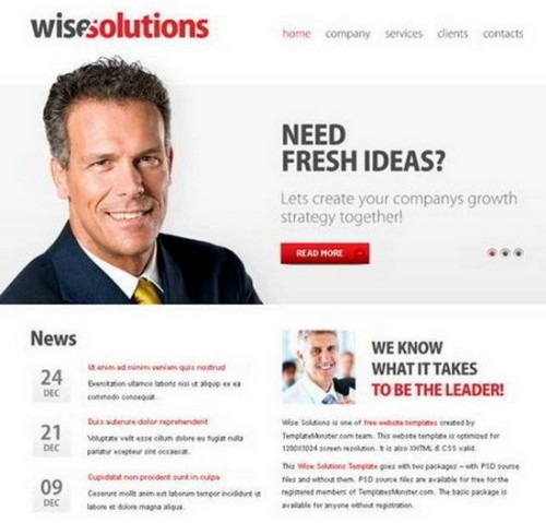 Free Wise Solutions Template