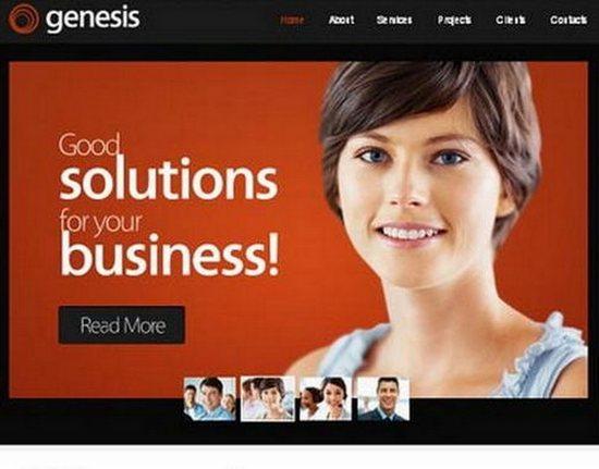 Free Genesis Modern Web Template