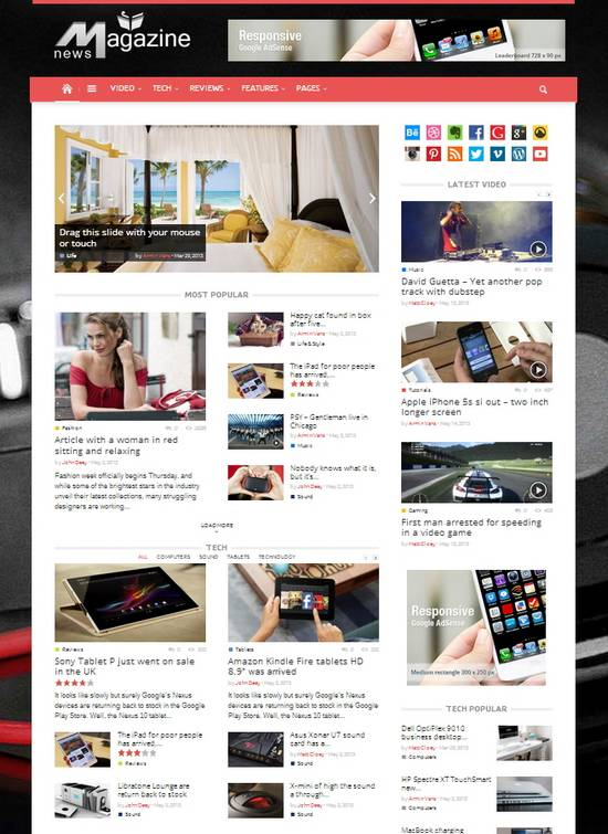 15 Fresh Responsive Magazine WordPress Templates | Ginva