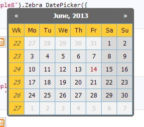 Zebra Datepicker jQuery Plugin