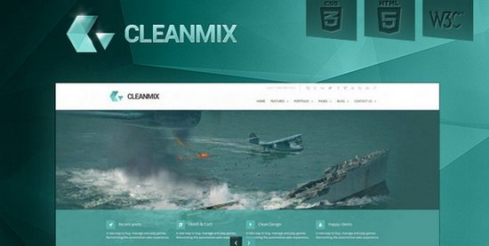 CleanMix HTML5/CSS3 Corporate Website Template