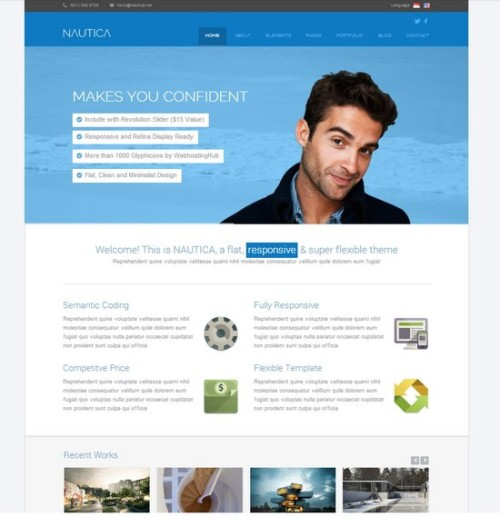 Nautica Flat Corporate HTML Template