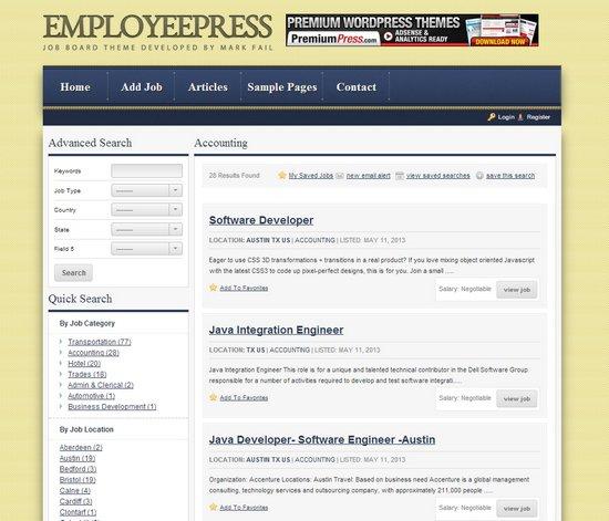 EmployeePress Job Board Theme