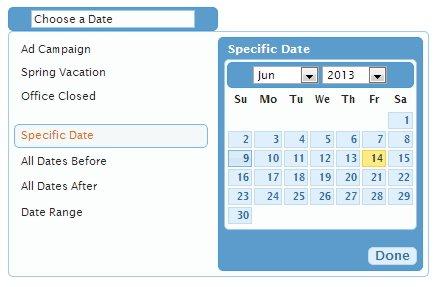 Date Range Picker jQuery