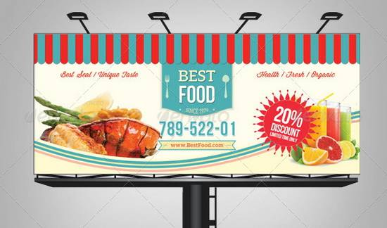 Retro Taste Food / Restaurant Billboard