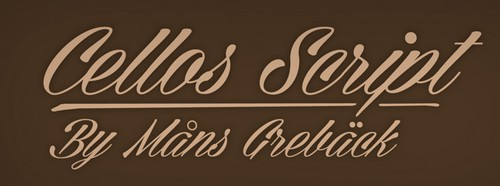Cellos Script Free Calligraphy Fonts