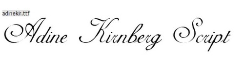 Adine Kirnberg Script Free Calligraphy Fonts