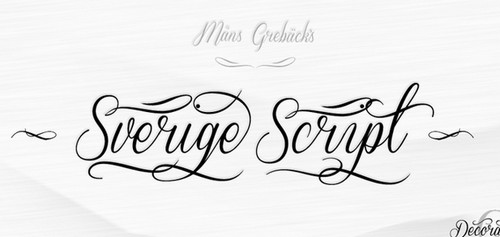 Sverige Script Free Calligraphy Fonts