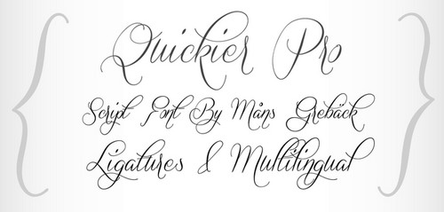 Quickier Free Calligraphy Fonts
