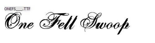 One Fell Swoop Free Calligraphy Fonts
