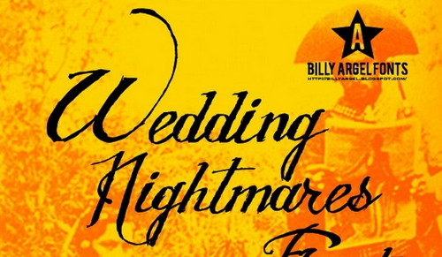 Wedding Nightmares Free Calligraphy Fonts