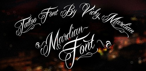 Mardian Free Calligraphy Fonts