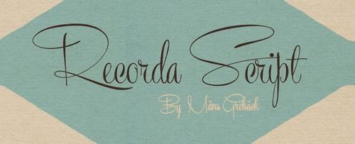 Recorda Script Free Calligraphy Fonts