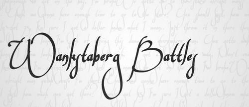 Wankstaberg Battles Free Calligraphy Fonts