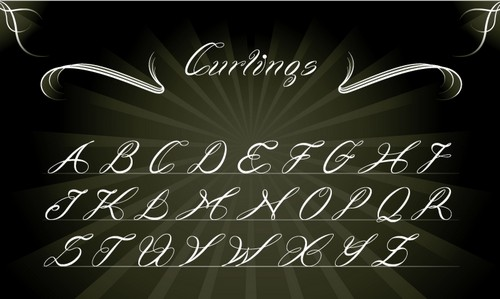 Curlings Free Calligraphy Fonts