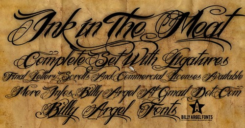 Ink In The Meat Free Calligraphy Fonts