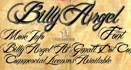 Billy Argel Free Calligraphy Fonts