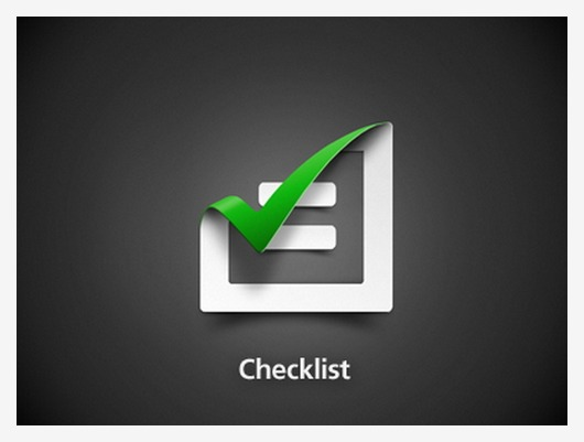 12 Checklist icon design