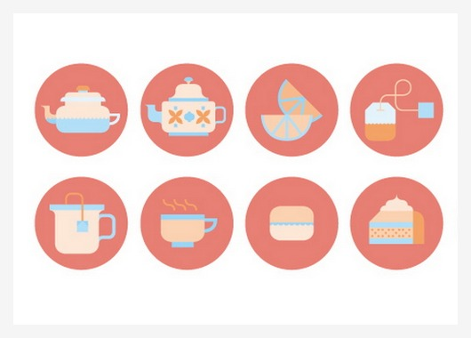 14 Tea Time Icon Design