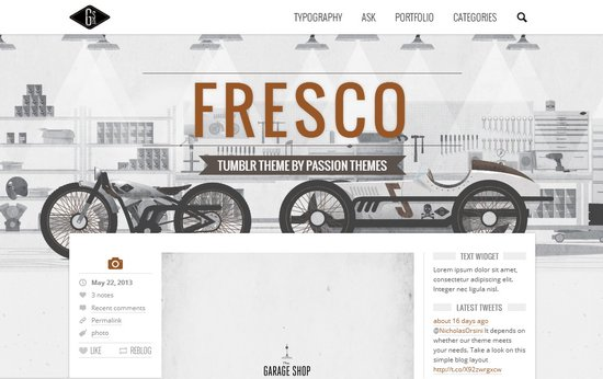 30 Awesome Tumblr Blog Themes in 2013 | Ginva