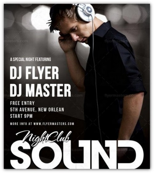 Free Sound Flyer PSD