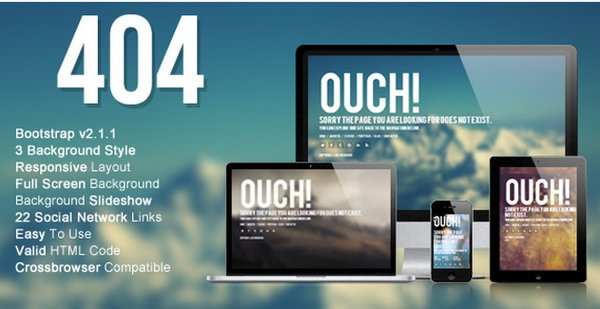 20 creative htmlcss 404 templates ginva wizm 404 responsive error template for you can be used for companies individuals and professionals with full screen background maxwellsz