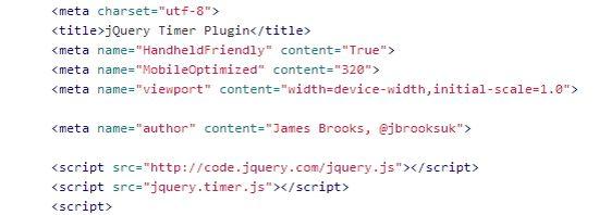 jQuery Timer Plugin Version 1.0.0