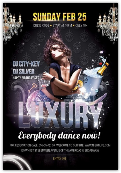 Luxury Parties Flyer PSD