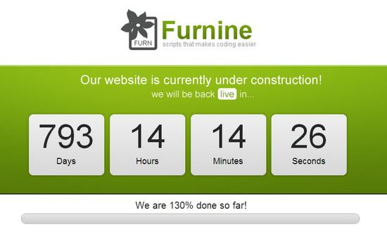 Under construction count-down jQuery Timer