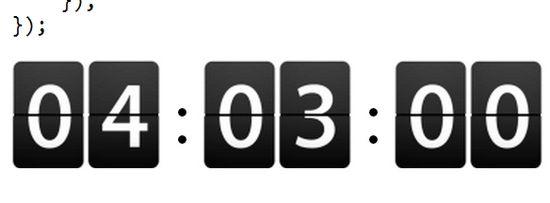 A javascript countdown timer