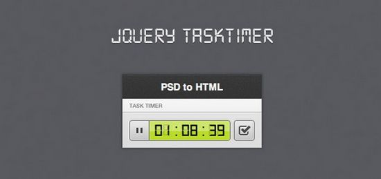 jQuery taskTimer ( Stopwatch)