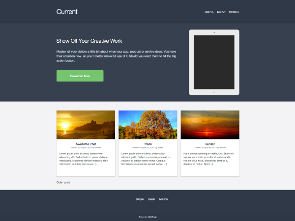 Current Free WordPress Portfolio Theme
