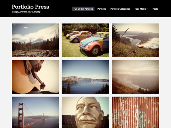 Portfolio Press Free WordPress Portfolio Theme