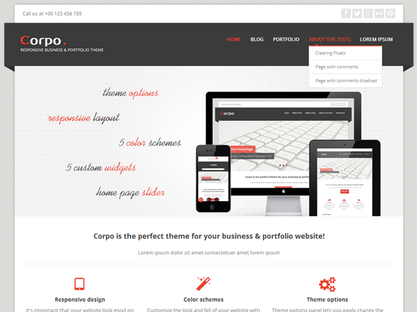 Corpo Free WordPress Portfolio Theme